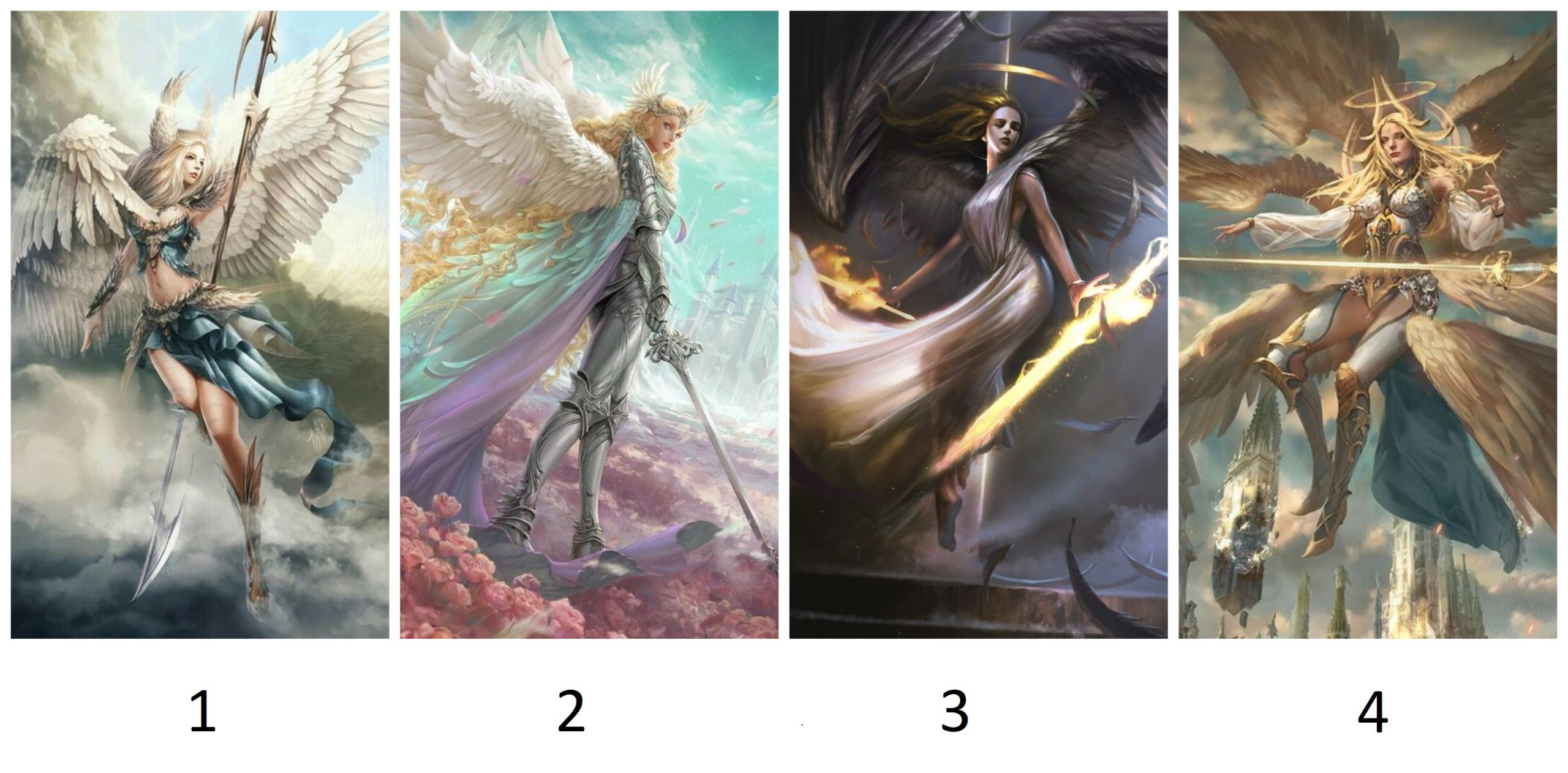 Pick a Angel Warrior to Get a Protective Message